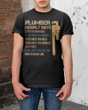 Plumber Hourly Rate Classic T-Shirt apparel-classic-tshirt-lifestyle-31