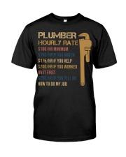 Plumber Hourly Rate Premium Fit Mens Tee thumbnail