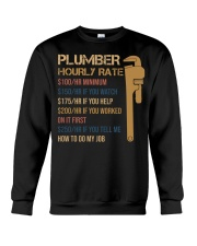 Plumber Hourly Rate Crewneck Sweatshirt thumbnail