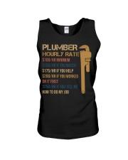 Plumber Hourly Rate Unisex Tank thumbnail