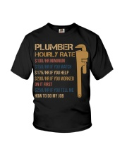 Plumber Hourly Rate Youth T-Shirt thumbnail