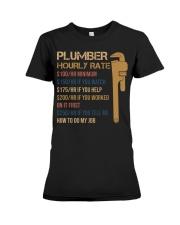 Plumber Hourly Rate Premium Fit Ladies Tee thumbnail