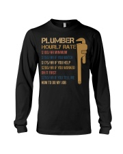 Plumber Hourly Rate Long Sleeve Tee thumbnail