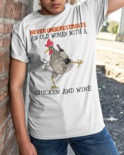Chicken And Wine Classic T-Shirt apparel-classic-tshirt-lifestyle-27