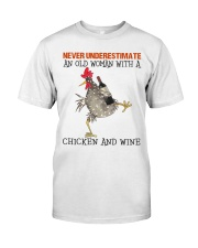 Chicken And Wine Classic T-Shirt front