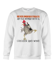 Chicken And Wine Crewneck Sweatshirt thumbnail
