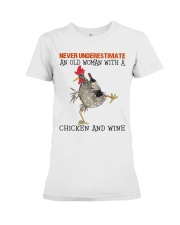 Chicken And Wine Premium Fit Ladies Tee thumbnail