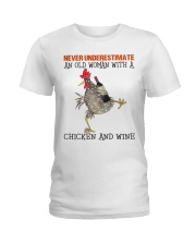 Chicken And Wine Ladies T-Shirt tile