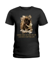 Cat Can Have A Better Life Ladies T-Shirt thumbnail