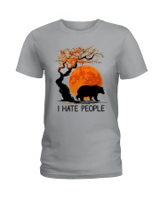 I Hate People Ladies T-Shirt tile
