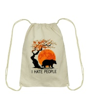 I Hate People Drawstring Bag thumbnail