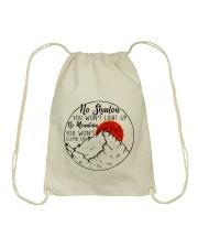 No Shadow No Mountain Drawstring Bag thumbnail