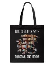 Dragons And Books Tote Bag thumbnail