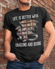 Dragons And Books Classic T-Shirt apparel-classic-tshirt-lifestyle-26