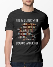 Dragons And Books Classic T-Shirt lifestyle-mens-crewneck-front-13