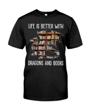 Dragons And Books Premium Fit Mens Tee thumbnail