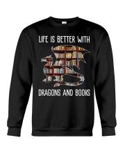 Dragons And Books Crewneck Sweatshirt thumbnail