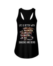 Dragons And Books Ladies Flowy Tank thumbnail