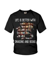 Dragons And Books Youth T-Shirt thumbnail