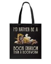 Book Dragon Than A Bookworm Tote Bag thumbnail