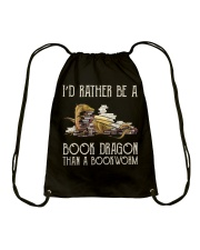 Book Dragon Than A Bookworm Drawstring Bag thumbnail