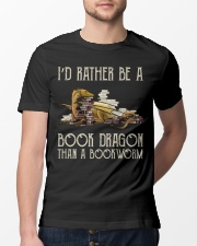 Book Dragon Than A Bookworm Classic T-Shirt lifestyle-mens-crewneck-front-13