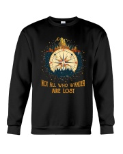Not All Who Wander Are Lost Crewneck Sweatshirt thumbnail