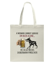 Doberman Pinscher Tote Bag thumbnail