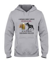 Doberman Pinscher Hooded Sweatshirt thumbnail
