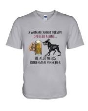 Doberman Pinscher V-Neck T-Shirt thumbnail