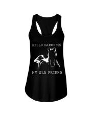 Hello Darkness My Old Friend Ladies Flowy Tank thumbnail