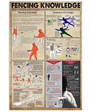 Fencing Knowledge 11x17 Poster front