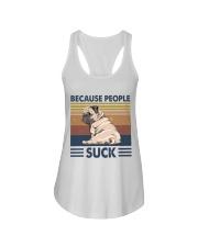 Because People Suck Ladies Flowy Tank thumbnail