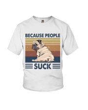 Because People Suck Youth T-Shirt thumbnail
