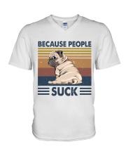Because People Suck V-Neck T-Shirt thumbnail