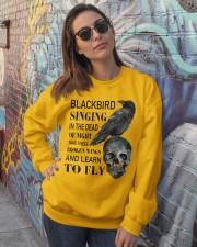 Blackbird Singing Crewneck Sweatshirt lifestyle-unisex-sweatshirt-front-3
