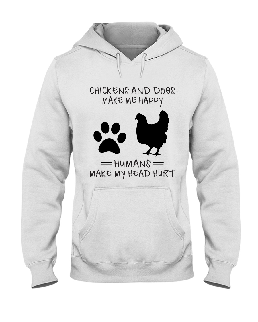 Chickens And Dogs Hooded Sweatshirt