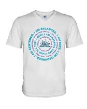 I Am Balanced V-Neck T-Shirt thumbnail