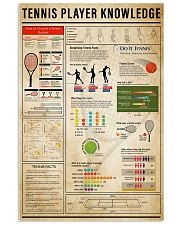 Tennis Player Knowledge 11x17 Poster front