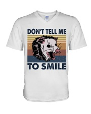 Don't Tell Me To Smile V-Neck T-Shirt tile