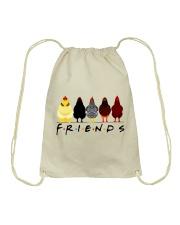Chicken Is Friends Drawstring Bag thumbnail