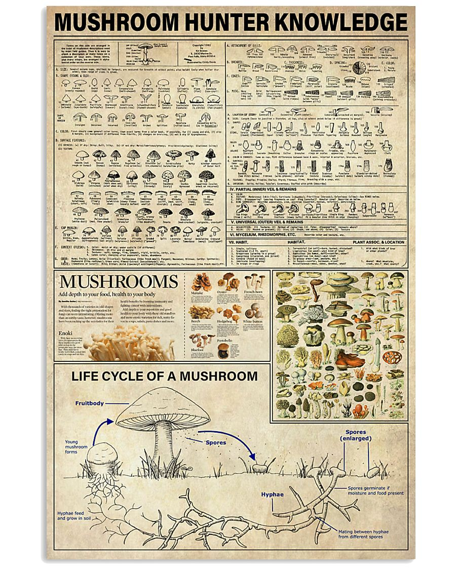 Mushroom Hunter Knowledge 11x17 Poster