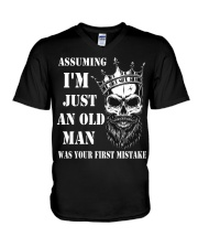 Assuming I'm Just An Old Man V-Neck T-Shirt tile