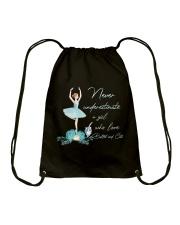 Love Ballet And Cats Drawstring Bag thumbnail