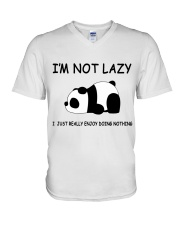 I Am Not Lazy V-Neck T-Shirt thumbnail