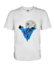 I Eat People V-Neck T-Shirt thumbnail