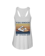 You Knock My Stocks Off Ladies Flowy Tank thumbnail