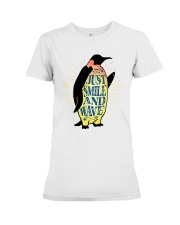 Just Smile And Wave Premium Fit Ladies Tee thumbnail