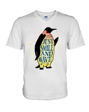 Just Smile And Wave V-Neck T-Shirt thumbnail