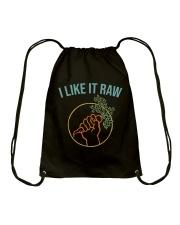 I Like It Raw Drawstring Bag thumbnail